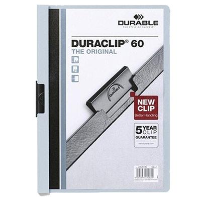 Chemise à clip Durable Duraclip en PVC - bleu clair - 60 feuilles (photo)