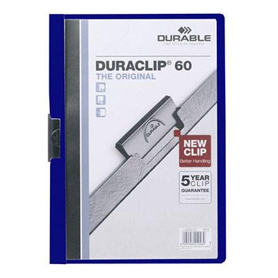 Chemise à clip Durable Duraclip en PVC - bleu foncé - 60 feuilles (photo)