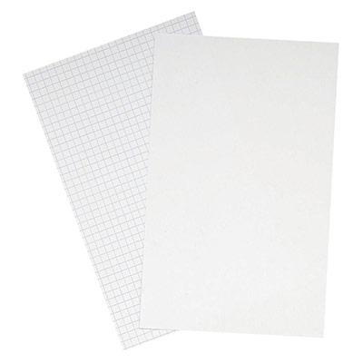 Boîte de 100 fiches Bristol Oxford - 14,8 x21 cm (A5) - quadrillé 5x5
