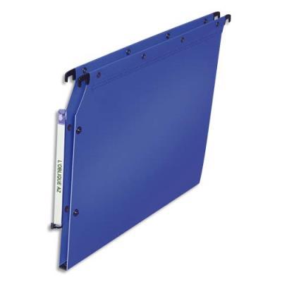 Dossiers polypropylène - dos 15 mm - paquet de 10 - pour armoire - bleu (photo)