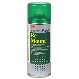 Aérosol de colle 3M Remount - pour repositionnements multiples - 400 ml (photo)