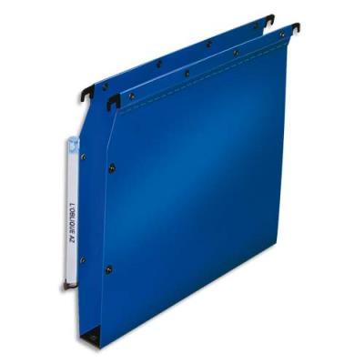Dossiers polypropylène 5/10°- dos 30 mm - paquet de 10 - pour armoire - bleu (photo)