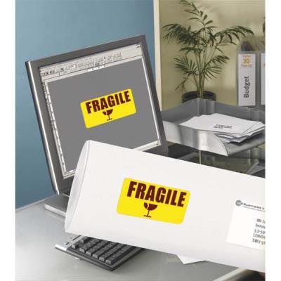 Etiquettes de couleur Avery - enlevable - 19,9 x 28,9 cm - jaune - boîte de 20