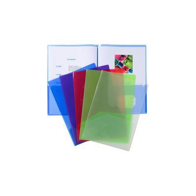 Chemise de présentation double poche Exacompta pour document A4/ A3 - polypropylène transparent - assorties