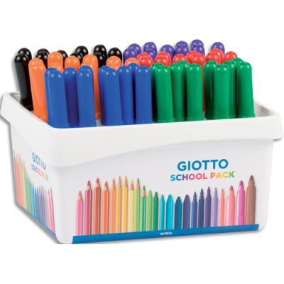 Schoolpack de 60 feutres effaçable à sec - pointe ogive moyenne 4 mm - coloris assortis