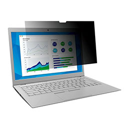 Filtre de confidentialité 3M for HP EliteBook x360 1030 G2 with COMPLY Attachment System - Filtre de confidentialité pour ordinateur portable - largeur 13,3 pouces - noir - pour HP EliteBook x360 1030 G2 (photo)