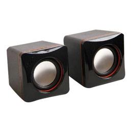 MCL Samar HP-USB2/4 - Haut-parleurs - pour PC - 4 Watt (Totale) - noir