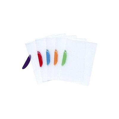 Chemise A4 transparente en PVC Exacompta - 30 feuilles - clip latéral plastique Fun - couleurs assorties