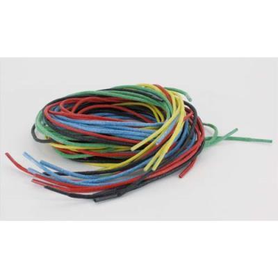 Lot de 25 lacets de 70 cm - diamètre 2 mm - en coton - pour laçage ou tissage - coloris assortis (photo)