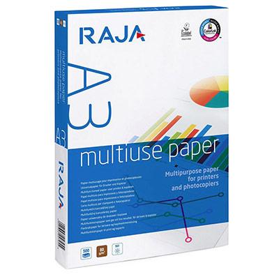 Papier très blanc Raja Paper - A3 - 80g - CIE 161 - Multi-usage - ramette de 500 feuilles