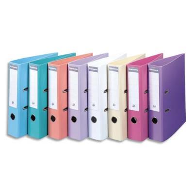 Classeur à levier Exacompta en PVC - dos de 7 cm - format 32 x 29 cm - coloris assortis Pastel