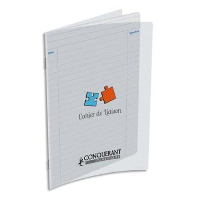 Cahier de liaison Oxford - 17 x 22 - 48 pages - 90g - ligné - couverture polypro incolore
