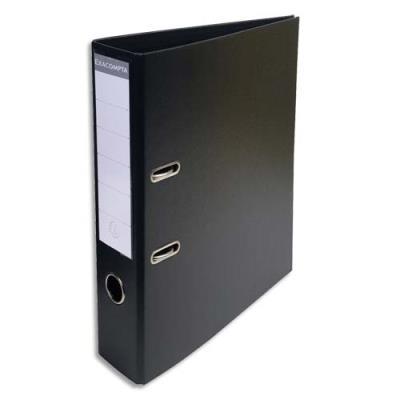 Classeur à levier Exacompta en PVC - dos de 7 cm - format 32 x 29 cm - coloris noir