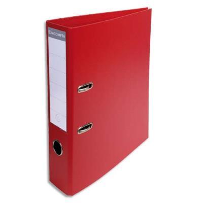 Classeur à levier Exacompta en PVC - dos de 7 cm - format 32 x 29 cm - coloris rouge