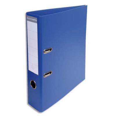 Classeur à levier Exacompta en PVC - dos de 7 cm - format 32 x 29 cm - coloris bleu foncé