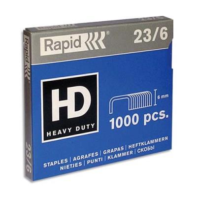 Agrafes Rapid Nº23/6 - boîte de 1000 (photo)