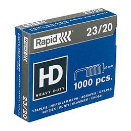 Agrafes Rapid Nº23/20 - boîte de 1000