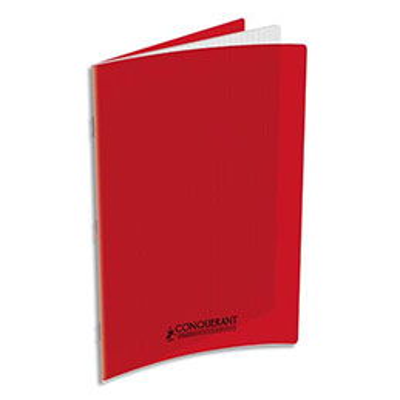 Cahier Oxford - couverture polypropylène - A4 - 90 g - 48 pages - Seyès - rouge