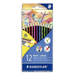 Etui de 12 crayons Staedtler - coloris assortis (photo)