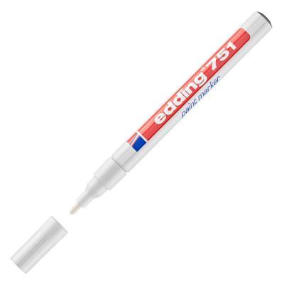 Marqueur Edding - peinture encre permanente blanche pour toutes surfaces - pointe fine