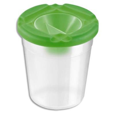 Pot anti-verse en plastique transparent avec bouchon de fermeture
