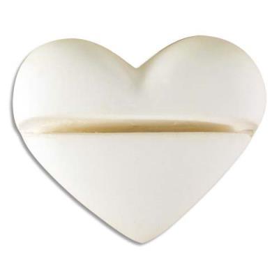 Porte-photo à décorer - cœurs en plâtre - 41 x 35 x 15 mm - vendu par 8 (photo)