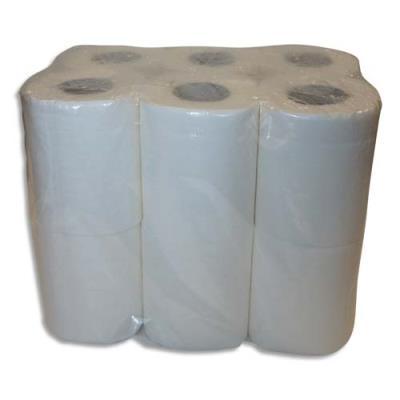 Papier toilette pure ouate - 2 plis - 144 formats - blancs - colis de 4 paquets de 12 rouleaux