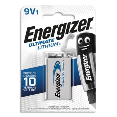 Pile energizer 6lr61 ultimate lithium 9v blister de 1 pile