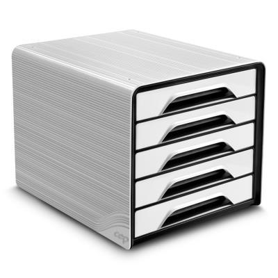Module de classement Cep Smoove - 5 tiroirs - blanc - façades noires