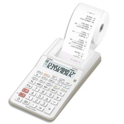 Calculatrice imprimante portable Casio HR-8 RCE - 12 chiffres - Blanche