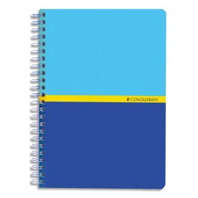 Carnet Conquérant 7 - 70 g - couverture couchée vernie - 14.8 x 21 cm - reliure spirale - 180 pages (photo)