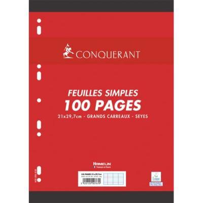 Feuillets mobiles Conquérant 7 Seyes - 70 g - 21 x 29,7cm - étui de 100 pages