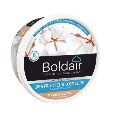 Gel destructeur d'odeur Boldair- parfum fleur de coton - 300 g