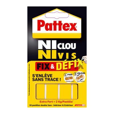 Pastilles adhésives extra-fortes Fix & Defix de Pattex - pochette de 10