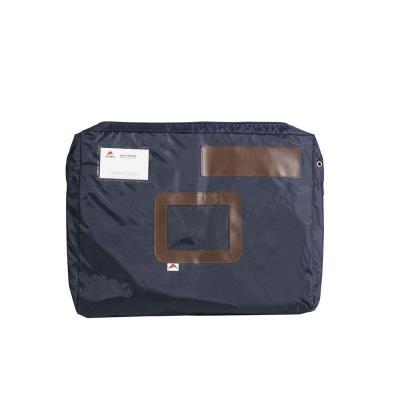 Pochette navette Alba - format 32 x 42 cm x dos large 5 cm - bleu
