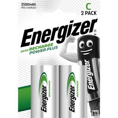 Pile Energizer C HR14 Power plus - rechargeable - 2500 mAh - blister de 2 piles