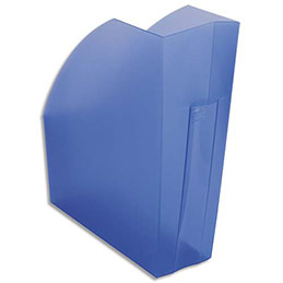 Porte-revues Exacompta Iderama - L29,2 x H32 x P11 cm - bleu transparent