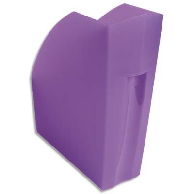 Porte-revues Exacompta Iderama - L29,2 x H32 x P11 cm - violet transparent