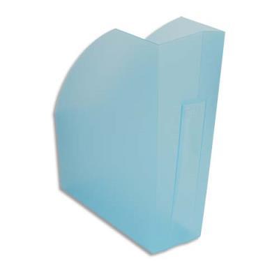 Porte-revues Exacompta Iderama - L29,2 x H32 x P11 cm - turquoise transparent