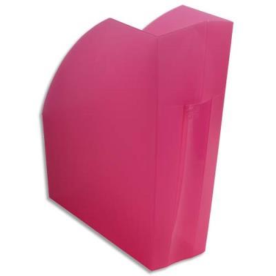 Porte-revues Exacompta Iderama - L29,2 x H32 x P11 cm - rose transparent