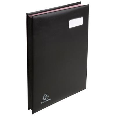 Parapheur 16 compartiments Claircell - noir - couverture en PVC expansé (photo)