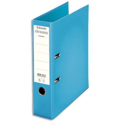 Classeur à levier Chromos Plus Esselte - dos de 8 cm - polypropylène - bleu ciel