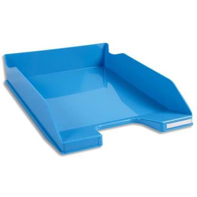 Corbeille à courrier Exacompta Iderama - en polystyrène - L34,7 x H6,5 x P25,5 cm - turquoise glossy