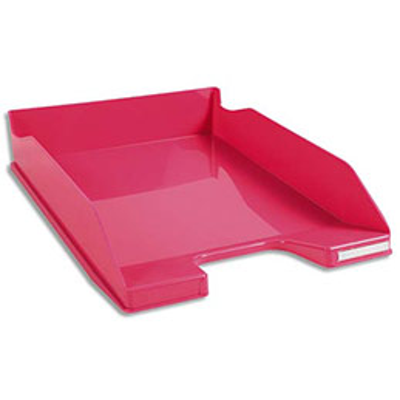 Corbeille à courrier Exacompta Iderama - en polystyrène - L34,7 x H6,5 x P25,5 cm - rose glossy