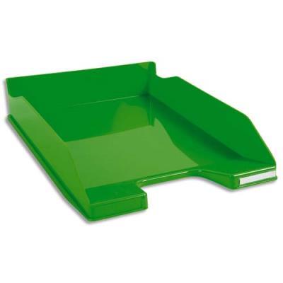 Corbeille à courrier Exacompta Iderama - en polystyrène - L34,7 x H6,5 x P25,5 cm - vert glossy