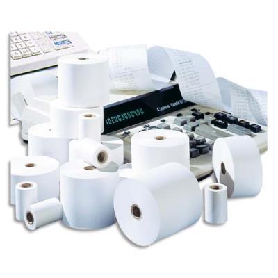 Bobine pour calculatrice - format 57 x 57 x 12 mm - 60 g - blanc (photo)