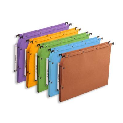 Dossiers suspendus AZV en carte Canson coloris assortis - pour armoire - fond 15 mm