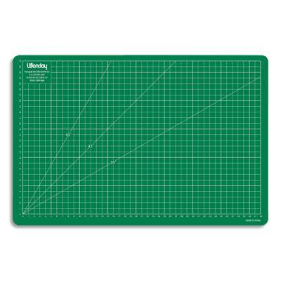 Plaque de découpe Jpc Créations - verte - 450x300x3mm - Résistante à la coupe surface quadrillée JPC