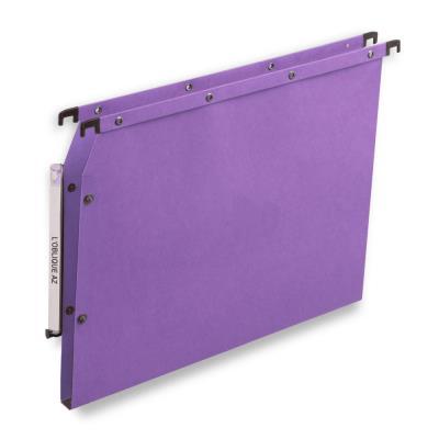 Dossiers suspendus AZV en carte Canson lilas - pour armoire - fond 15 mm