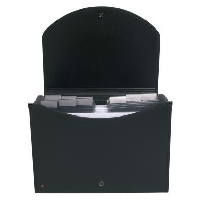 Trieur valisette Exacase de Exacompta  - polypropylène noir - 13 compartiments